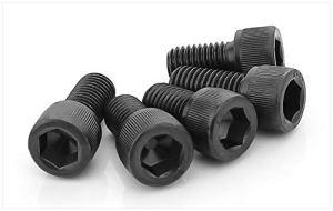 Ochoos DIN912 Vis à tête cylindrique à empreinte hexagonale en acier carbone haute résistance M12 M14 Noir sergé M12X300 half 1pcs