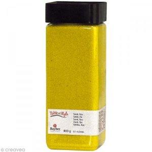 Sable décoratif fin jaune soleil 800 g