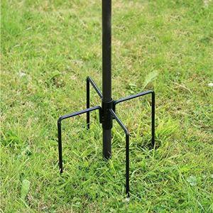 Stabilisateur pour mangeoire pour oiseaux sauvages – Pour jardin, extérieur – Avec pieds s'enfonçant dans le sol – Noir