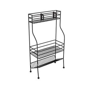 Support de stockage simple pour la maison, cuisine multifonction, support de stockage en couches pour le bureau de la salle de bain-black