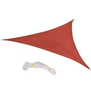 YHNJI Triangle Voilier d'ombrage, 1 pièce en tissu Oxford résistant à l'eau Jardin Patio Soleil Voile d'ombrage Voile de soleil Bloc UV Voile Abri avec Corde 8*8*8ft rouge rouille