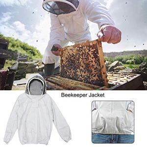 Lucky-all star Veste d'apiculteur avec Voile autoportant – Veste à Capuche d'apiculteur, vêtement de Protection apicole avec Voile, pour l'apiculture de Jardins domestiques