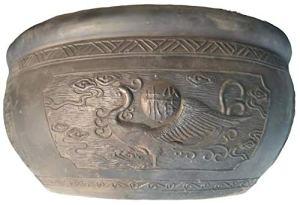 Mengyao Traditional Suzaku Ancienne Chambre de Bol de Poissons de poterie Pékin écologique Mousse Verte Respirant Peut Se développer sur Le Balcon Salon avec Patio extérieur
