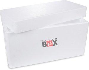 Boîte en polystyrène blanc Boîte isolante Thermobox Boîte froide Boîte chaude Boîte chaude 78,5×35,5x46cm – 87,60 Liter Volume