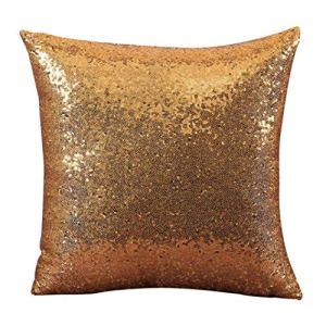 Couverture Confortable de Coussin de Paillettes de Couleur Solide Confortable Throw taie d'oreiller Cafe Decor 1 PC