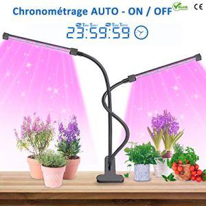 MOREASE Lampe de Croissance pour Plantes,【2019 Nouvelle Version】Chronométrage AUTO – ON/OFF, pour les Plantations en Intérieur