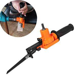 Adaptateur de scie alternative connecté à une perceuse électrique, avec une poignée antidérapante pour couper le bois, le métal, l'acier