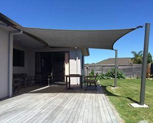 AXT SHADE Voile d'ombrage Rectangulaire 4 x 6m Une Protection des Rayons UV et Matière Traspirante pour Extérieur/Terrasse/Jardin – Coloris Gris