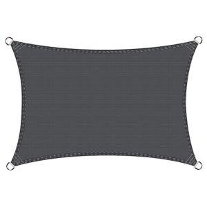 Cool Area Voile d'ombrage rectangulaire 2.5 x 4 mètres Une Protection des Rayons UV, résistant et Respirant, Couleur Graphite