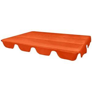 mewmewcat Toit de Rechange pour Balancelle de Jardin Balançoire Soleil Toit Résistant au Soleil 226 x 186 cm (L x l) Orange PVC Imperméable