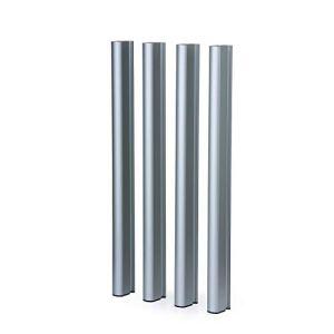 Mondum Pieds en aluminium argentés, 95 H Méditerranée