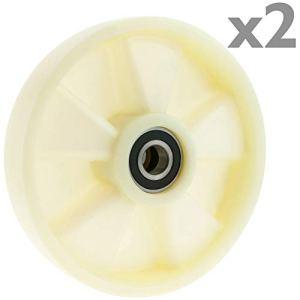 PrimeMatik qr82-vces Roue pour transpalette Rouleau de Nylon de 180x 50mm 800kg 2-Pack (qr82), Blanc