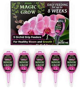 SMEREKA Engrais Liquide pour orchidées – Engrais à Action prolongée – 5 Capsules de 25 ML pour la fertilisation au Goutte à Goutte des Plantes