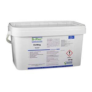 S-Pro – EisWeg dégivrage, litière en hiver, en granule, conc.Agent dégivrant comme alternative au sel de déneigement – sans danger pour les animaux, la nature et l'environnement – séchage rapide, pour neige persistante et verglas