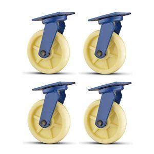 YZJJ roulettes résistantes de 10inch, roulettes pivotantes, résistance à Hautes températures de résistance à l'usure de Roue Industrielle de roulettes universelles, Chariot Robuste