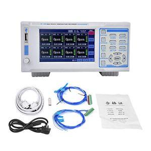 Zouminy Enregistreur de température, enregistreur de température multicanal IV-380 5in avec testeur de température à 16 canaux, Prise UE 220V