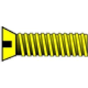 1-72 3/8″ Flat Head Machine Screw (5) by Woodland Scenics