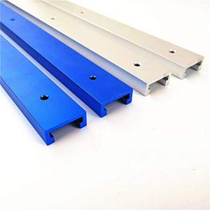 5PCST-Slot de fixation à onglets pour gabarit – En alliage d'aluminium – Rail de travail du bois – Pour table de dérouteur – Profil universel en T – 300 mm – Bleu