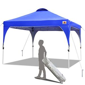ABCCANOPY Tonnelle Tente Gazebo Pavillon de Jardin 3×3 'Easy Pop-up' Auvent Portable Ombre instantanée Se Pliant Meilleure Circulation de l'air-Bonification Sac à roulettes et 4 Sacs de Poids(Bleu)