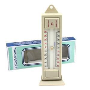 Aishah Thermomètre maximum et minimum Moniteur de température de mur de serre intérieure de jardin extérieur -40 à 50 degrés
