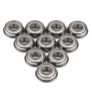 Akozon roulement à Billes 10pcs F608ZZ Double a protégé Les roulements à Billes Miniatures à Bride en Acier 8 * 22 * 7mm