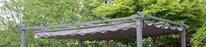 Angel Living Toit Supérieur pour 3x4M Tonnelle Pergola en Aluminium (Gris)