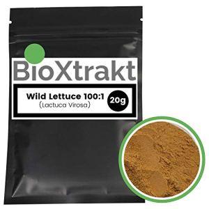 BioXtrakt ® Laitue Sauvage 100:1 extrait – (Lactuca Virosa) – Wild lettuce – Laitue Vireuse (20g)