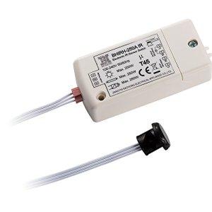 Capteur infrarouge switch- HoneyFly BHIRH-250A 100-240V détecteur de mouvement switch Interrupteur de lumière 5-10cm en dehors du cabinet un mouvement de la main Max.70W pour les LED