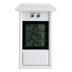 Centeraly Hygrothermographe numérique avec écran LCD Moderne pour extérieur étanche Thermomètre Mural de Jardin Free Size Blanc