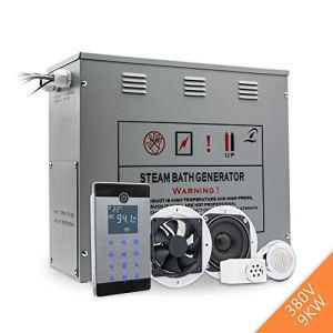 CGOLDENWALL Générateur de vapeur avec contrôle Bluetooth pour salle de bain et sauna