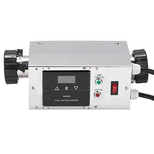 Chauffe-piscine électrique, 2KW Radiateur électrique étanche pour piscine SPA Contrôleur de température de thermostat numérique pour baignoire/piscine de bain froid chaud(EU 220V)
