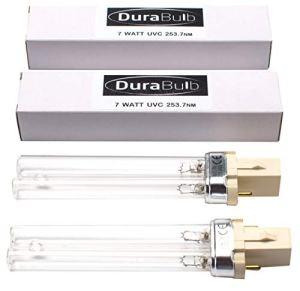 DuraBulb Lot de 2 ampoules de rechange UV PLS 7W pour filtre de bassin UVC et Clarifieurs
