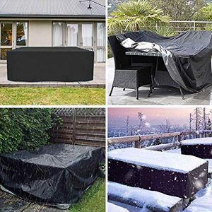 DXR Housse de Protection Anti-poussière pour Meubles en rotin pour Table Cube Chaise canapé imperméable Jardin Jardin Jardin Patio Patio extérieur, 213 x 132 x 74cm