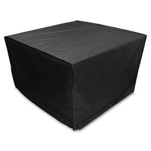 DXR Housse imperméable à la poussière pour Meubles en rotin Table Cube Chaise Canapé Imperméable à l'eau Jardin Patio Patio Housse de Protection Blac