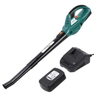 FIXKIT Souffleur de Feuilles Aspirateur-Souffleur à Piles 20V Lithium-ion, 1 H Charge Rapide, 2 Vitesses de Soufflage Max.120MPH, Chargeur et Tube de Rallonge Inclus pour Nettoyage de Jardin et Maison