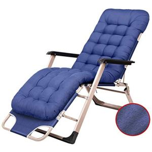 Hfyg Chaise Longue Chaises inclinables de Patio, Chaise Longue de Repos en Plein air réglable Pliant inclinable Chaise Longue pour Piscine Porche Cour avec Coussin des chaises Longues