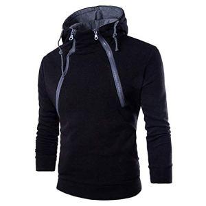 Innerternet Sweatshirt à Capuche Homme Manches Longues Slim Pullover Automne Mince Sweat Manteau d'usure Tops Jacket Outwear Veste Homme Sweatshirt Blouson