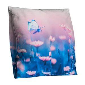 Junjie taie d'oreiller Fleur Polyester Double Face Housse de Coussin décoration 45x45cm