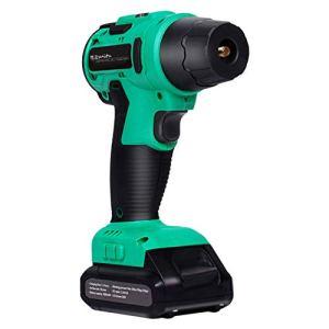 Justdodo Suitu Inflator Pump Pompe à air Haute Pression à Main Affichage numérique Gonfleur sans Fil Gonfleur de Pneu Portable – Vert