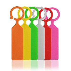 KINGLAKE 120 pcs Plante Arbre étiquettes en Plastique épais marqueurs Nursery Jardin étiquettes pour Jardinier Coloré