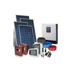 Kit Solaire Maison PLUS 5Kw 48V Systeme Photovoltaique Off-Grid Batteries Trojan