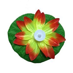 Lotus Artificiel Lotus coloré Lampes changeantes flottantes de Fleurs flottantes Piscine d'eau souhaitant des lanternes Lumineuses Fourniture de fête (Jaune) FRjasnyfall