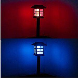 Lumières De Jardin Créatives Économes En Énergie De Forme De Jardin Led Au Sol Solaire Led Paysage Lumières Led Piste Lumières De Jardin Lumières De La Barrière Insérée Lampe De Pelouse