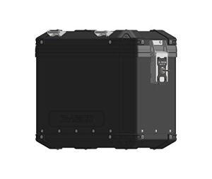 MyTech – Valise Droite 48 litres en Aluminium Model-X Vernie Noire libération Rapide – Universelle pour Supports Model-X