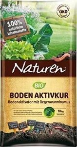 NATUREN Bio Bodenaktivkur Activateur de Sol Naturel pour améliorer la fertilité du Sol avec Un Humus Riche en nutriments pour vers de Terre, pour Jusqu'à 200m², 10kg