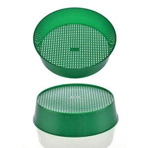 New Green Plastic Terreau Sieve pour Compost Soil Pierre Mesh Jardinage Outil Tamis Sol Fleur Pépinière Prop Knit Sieve