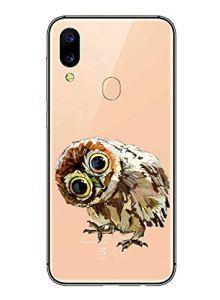 Oihxse Mode Transparent Silicone Case Compatible pour Xiaomi Mi 9T/Xiaomi Mi 9T Pro Coque, Ultra Mince Souple TPU Mignon Animal Série Protection de Housse Anti-Scrach Bumper Etui -Chouette