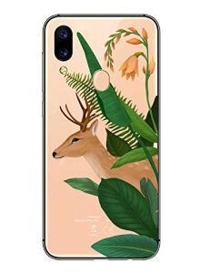 Oihxse Mode Transparent Silicone Case Compatible pour Xiaomi Redmi 8A Coque, Ultra Mince Souple TPU Mignon Animal Série Protection de Housse Anti-Scrach Bumper Etui -Cerf