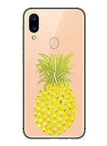 Oihxse Mode Transparent Silicone Case Compatible pour Xiaomi Redmi GO/Redmi 5A Coque, Ultra Mince Souple TPU Mignon Animal Série Protection de Housse Anti-Scrach Bumper Etui -Ananas