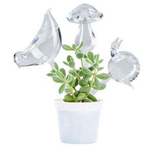 Paquet de 3 Globes auto-arrosants pour Abreuvoir pour Plantes, Mini Ampoules Durables en verre Transparent Durables en Verre Clair d'Aqua